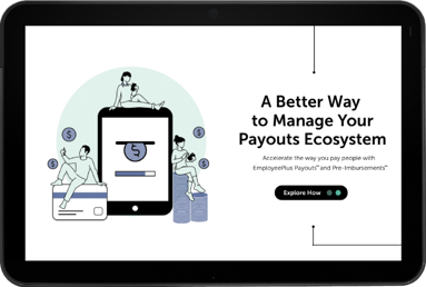 Updated Payouts Ecosystem tablet
